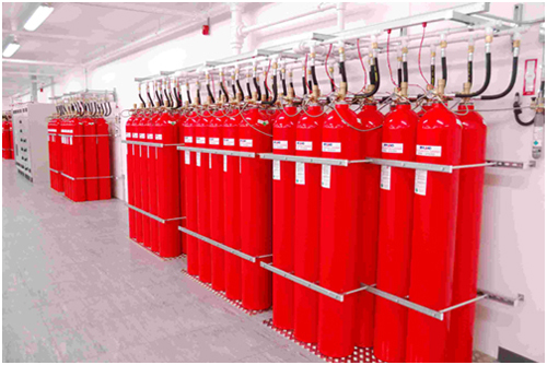 Fire sprinkler system in a building