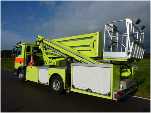 Aerial platform equipment for fire fighting
